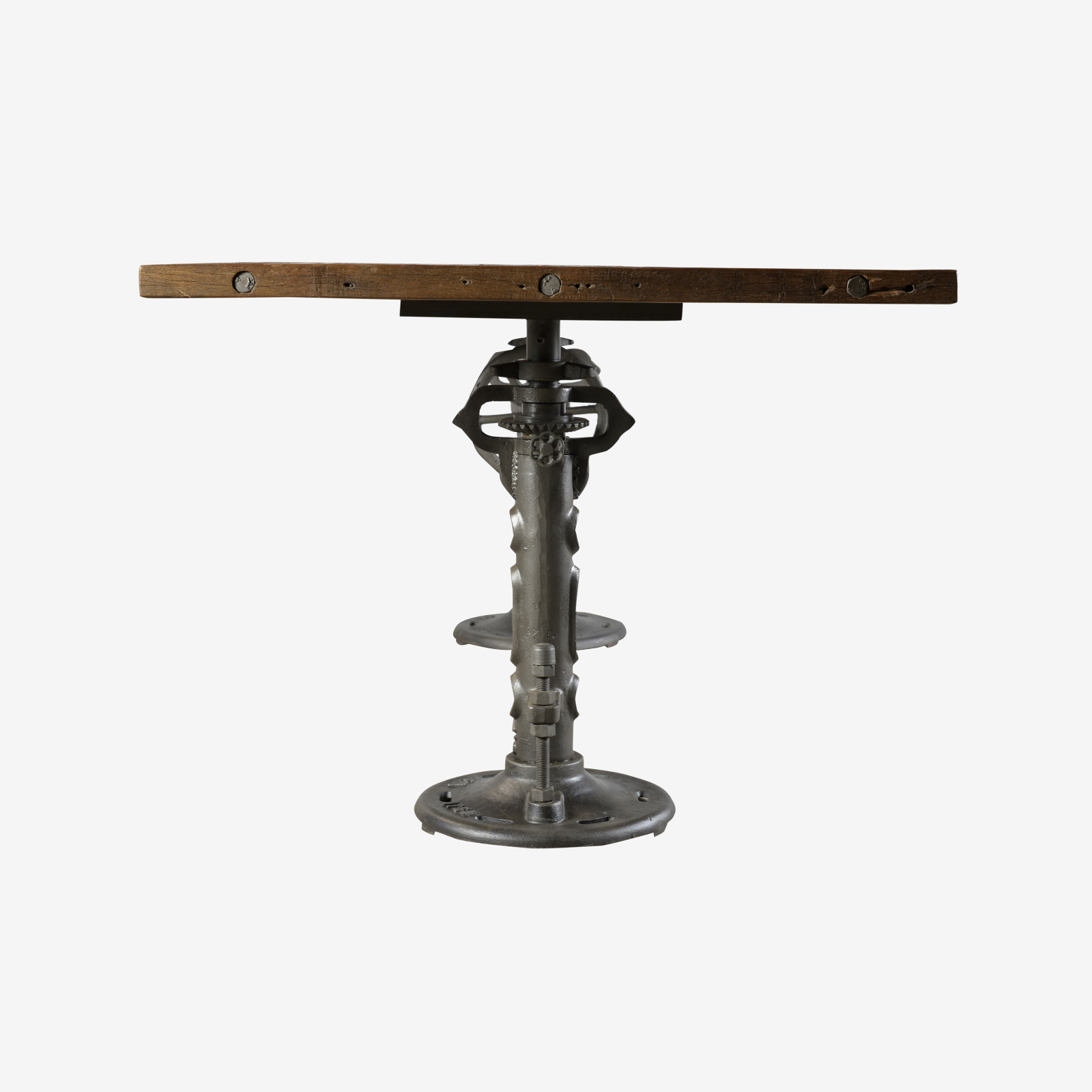 Dining Table Wooden Top And Height Adjustable Jack Base