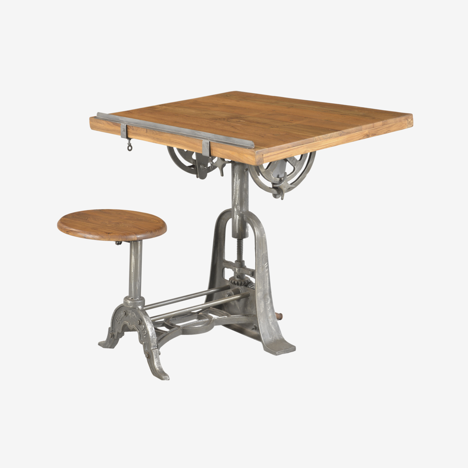 Table With Stool: Draft Table With Stool